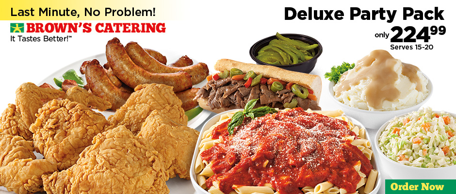 browns chicken italian beef italian sausage mostaccioli or mac cheese choice of 2 signature sides sweet peppers french bread giardiniera